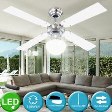 LED Licht Glas Decken Leuchte Ventilator Kühler Lüfter Durchmesser 105 cm E27