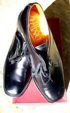 New Vintage David Scott Loake Style Black Leather Derby Shoes Size 8G Officers