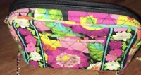 VERA BRADLEY PINK FLORAL Small Rounded Hipster Bag Purse Crossbody