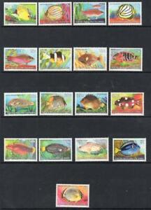 COCOS (KEELING ISLANDS) MNH 1979-80 FISH SG 34-47 SET 17 ALL