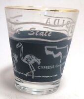 The Sunshine State FLORIDA Souvenir Shot Glass Silver Springs Cypress Springs