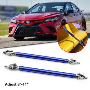 "For Toyota 86 Camry Adjust 8""-11"" Front Bumper Stabilizer Support Splitter Bars"
