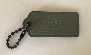 """Coach New York Sage Green Leather Hang Tag / 2.25"""" NEW"""