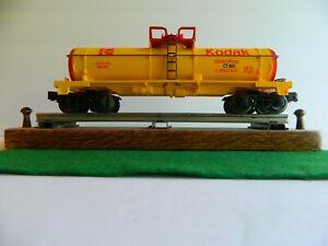 Lionel Kodak Single-Dome Tank Car 6-16188 Yellow, Red Lettering never run-In Box