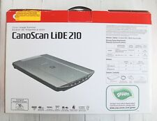 Canon CanoScan LiDE 210 Flatbed Scanner Original Box Manual CD and USB Included