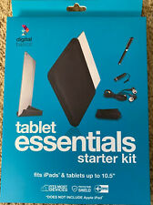 Digital Basics Tablet Essentials Kit. Stylus x2 Zipper Case Earbuds Stand Cloth