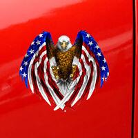 Bald Eagle American Flag Sticker Self-adhesive Car Truck Laptop Bumper Cooler x1