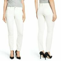 Not Your Daughters Jeans NYDJ Alina Corduroy Pants Skinny 2P White NWD  B13