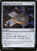 MTG Magic card Talisman of Hierarchy Modern Horizons Uncommon #233 Mint 💎 🔎