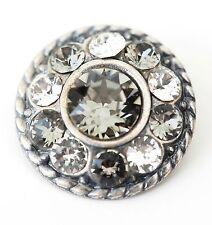 ANHÄNGER Neu SWAROVSKI STEINE kristallklar/black diamond/schwarz KETTENANHÄNGER