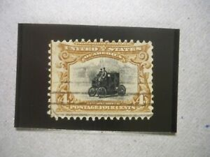 USA Used 1901 Issue, 4 Cent Pan-American Exposition,Scott #296 Brown & Black