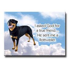 Rottweiler True Friend From God Fridge Magnet No 2 Dog
