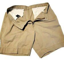 Payne Stewart Sz 34 Golf Shorts Pleated Front Khaki Cotton