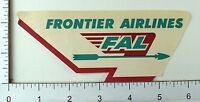 1950's Frontier Airlines FAL Original Vintage Luggage Label Poster Stamp E9