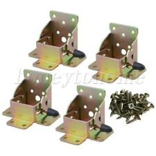 4pcs Iron Table Foldable Supports Color Zinc-Plated 90 Degrees for Furniture