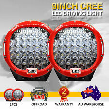 2X 9inch 99995W Cree Led Spot Work Driving Lights OFFROAD Hot Sale Red Lights