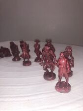 Pirates of Caribbean At Worlds End Replacement Chess Pieces 16 Disney 2007 Red