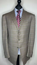 ERMENEGILDO ZEGNA TROFEO LUXURY DESIGNER TWEED JACKET BLAZER FULL CANVASS: 48R