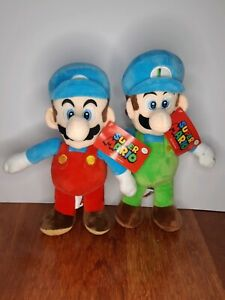 Super Mario Bros Mario and Luigi Plush Toys Bundle (~35cm), Nintendo Licensed