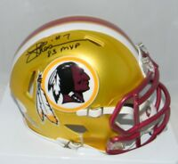 JOE THEISMANN AUTOGRAPHED SIGNED WASHINGTON REDSKINS BLAZE SPEED MINI HELMET JSA