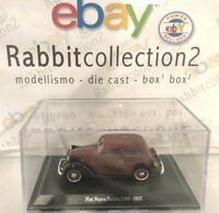 """DIE CAST """" FIAT NUOVA BALILLA 1100 - 1937 """" + TECA RIGIDA BOX 2 SCALA 1/43"""