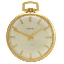 | 17 Jewel Stem Set Gruen Swiss Pocket Watch Ca1960S