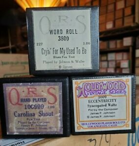 Choice of 3 James P. Johnson 88 note player piano roll recuts