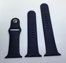Genuine Apple Watch Sports Band Gold Pin 42mm Strap Midnight Blue Nice Cond