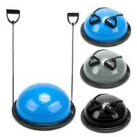 "23"" Yoga Half Ball Balance Trainnin Exercise Fitness Strength Gym Pump 3 Colors"