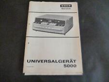 Original Service Manual Schaltplan Uher  Universalgerät 5000