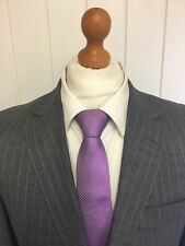 Mens ELEGANT OSWALD BOATENG BESPOKE COUTURE SUIT In GREY STRIPE 40R *IMMACULATE*