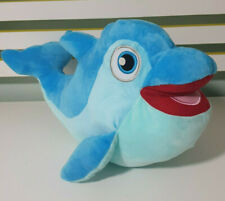 SEA WORLD GOLD COAST BLUE DOLPHIN SOFT PLUSH TOY! 40CM LONG FROM NOSE TO TAIL!