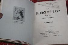 1910 Le Baron de Batz  Lenotre révolution françaiseTerreur politique biographie