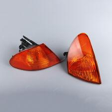 New Amber Corner Lights Parking Lamps Fit  BMW 3 Series E46 99 00 01 Sedan Pair