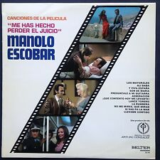Rare Spanish import! Manolo Escobar YOU MADE ME LOSE MY MIND soundtrack LP 1973