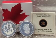 Canadian Holiday Season $10 2013 1/2OZ Pure Silver Coin O-Canada