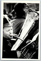 Man play trumpet Orchestra Old Fashion Music USSR Soviet Original Photo
