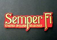 SEMPER FI FIDELIS EMBROIDERED PATCH USMC US MARINE CORPS MARINES 4 X 1.5 INCHES