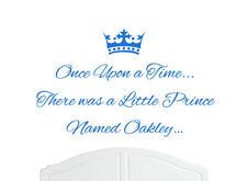 Érase una vez Prince Oakley pegatinas de pared calcomanía bed room Vivero Arte boy/baby