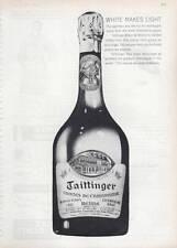 1963 Taittinger Brut French Champagne Vintage 1955 Bottle  PRINT AD