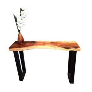 120Cm Bungalow Console Table Live Edge Raintree Wood