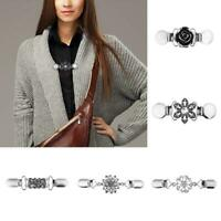 Women Cardigan Sweater Blouse Shawl Clips Shirt Collar Clip Clasps Hollow
