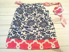 girls toddler childrens pillowcase dress hot pink blue summer dress 4-6t yr size