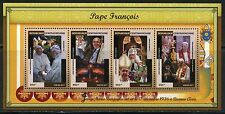 CENTRAL AFRICA 2017 POPE FRANCIS  SHEET MINT NH