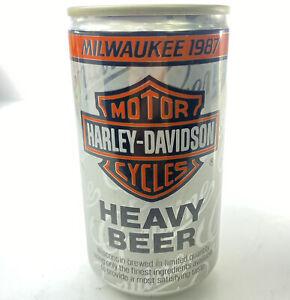 Harley Davidson Milwaukee 1987 Beer Can Vintage  Beer Can Vintage