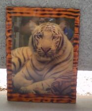 18 by 13 WOOD PICTURE OF A TIGER