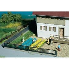Blumenbeete gelb/blau - Dekoration von Zierbeeten und Gärten //  Noch 07138