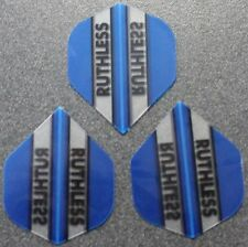 6 Packets of Brand New Ruthless Extra Strong Darts Flights - Light Blue