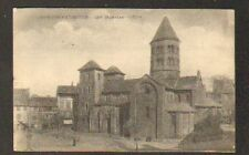 MAURIAC (15) VILLAS , COMMERCE & EGLISE animée en 1917