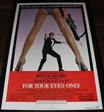 FOR YOUR EYES ONLY 1 SH ORIG MOVIE POSTER ROGER MOORE AS JAMES BOND 007
